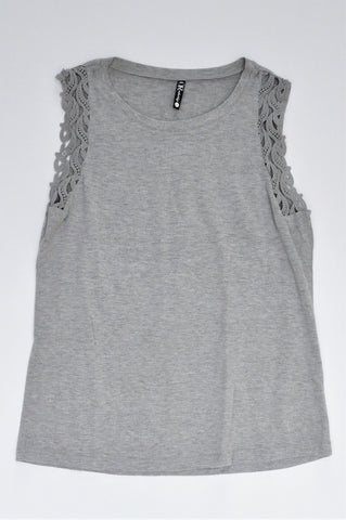 Mr. Price Grey Lace Sleeve Top Women Size 12
