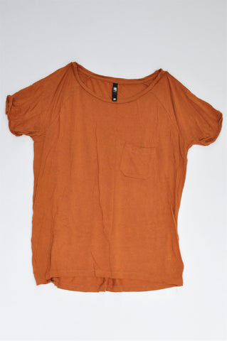 Mr. Price Burnt Orange Pocket T-shirt Women Size 12