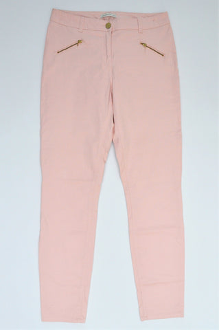Woolworths Pink Zip Detail Stretch Skinny Jeans Women Size 12