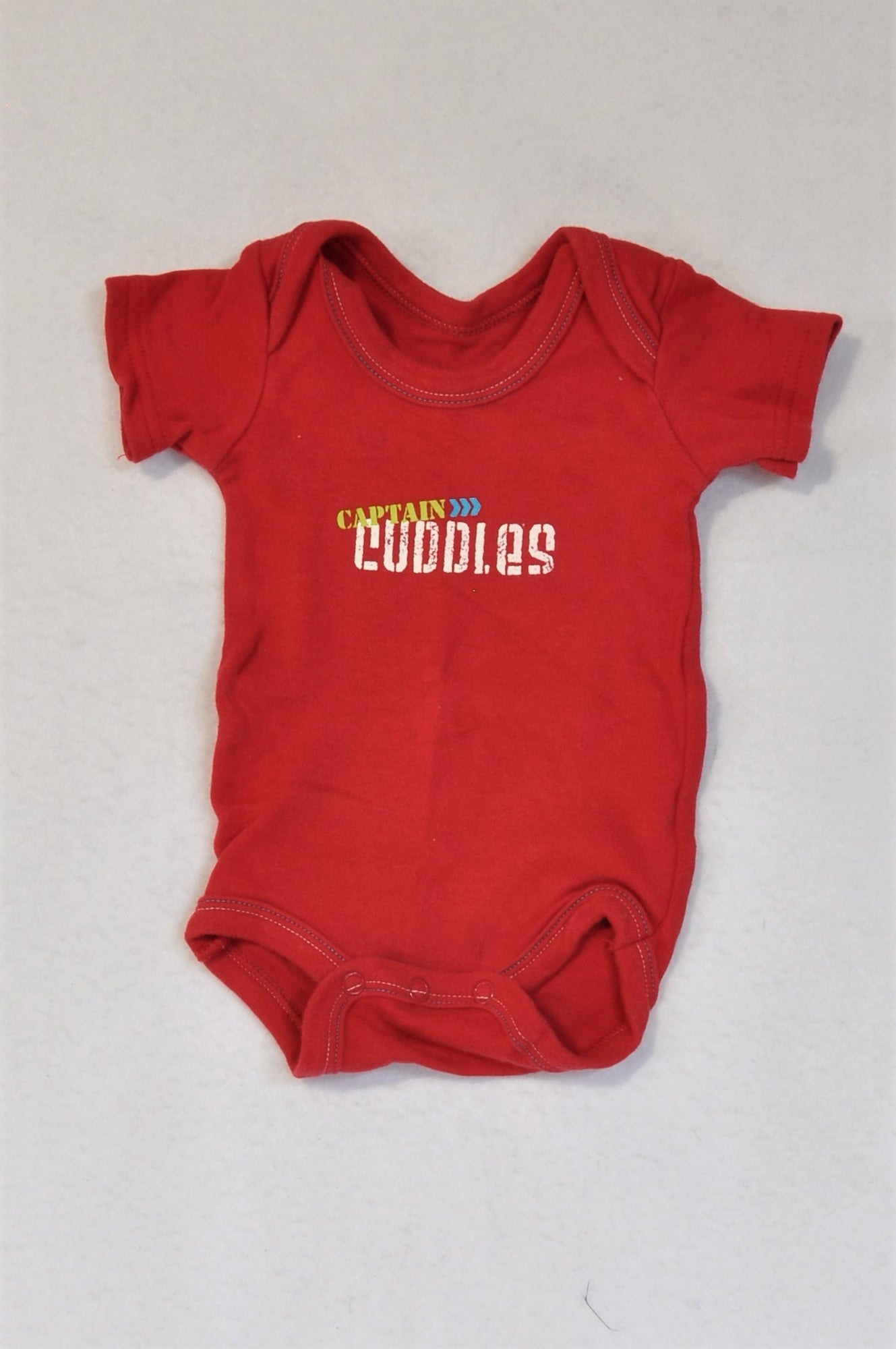 Woolworths Red & White Captain Cuddles Baby Grow Unisex N-B
