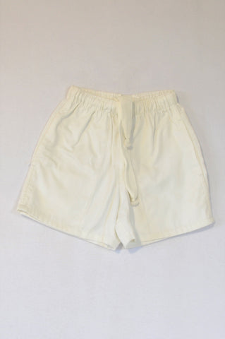 Student Prince White Drawstring Shorts Unisex 9-10 years