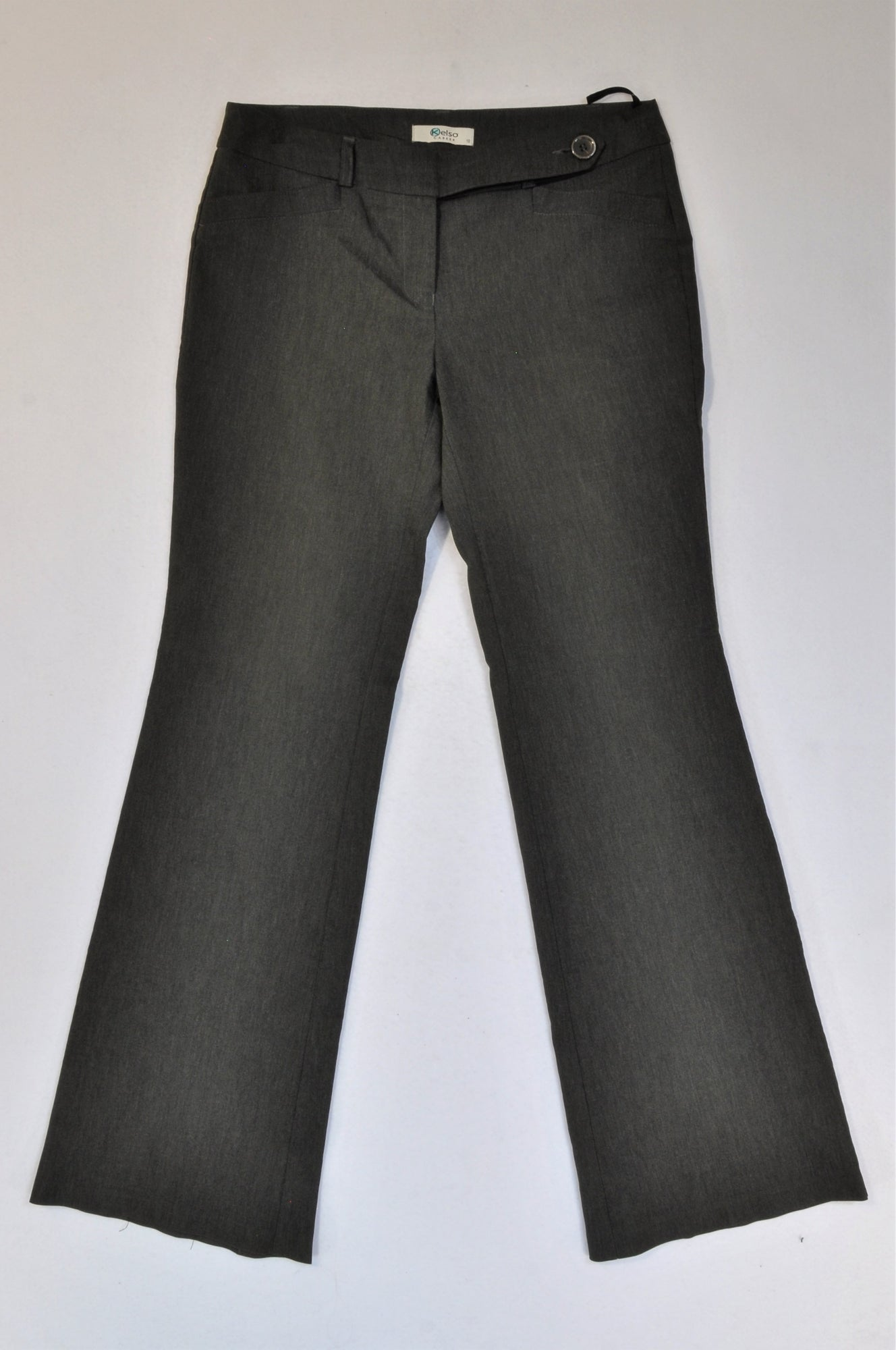 Kelso Charcoal Flare Office Pants Women Size 10