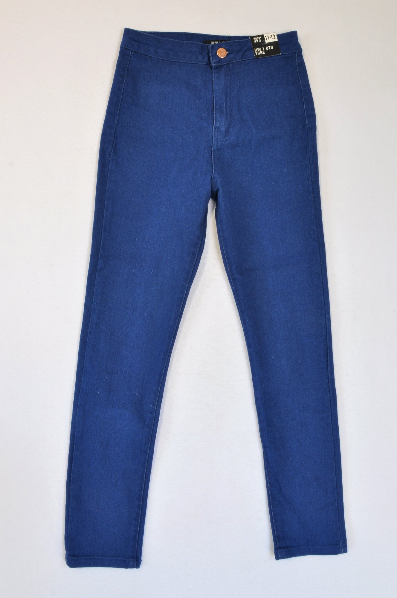 New Mr. Price Medium Wash High Waisted Jeans Girls 11-12 years