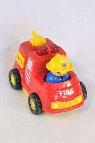 Unbranded Man in Firetruck Toy Unisex 2-5 years