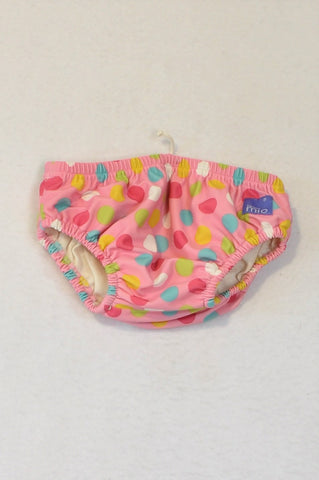 Bambino Mio Pink Multicolour Dotty Swim Nappy Girls 0-3 months