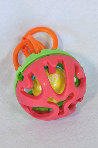 Carousel Green & Red Ball Teething Toy Unisex 6-18 months