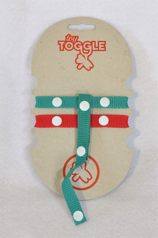 Toy Toggle Teal & Red Motherhood Accessory Unisex N-B to 3 years