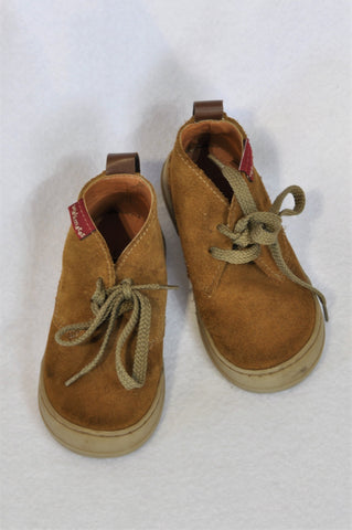 Woolworths Size 6 Tan Leather Lace Up Shoes Boys 18 months to 3 years