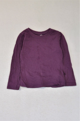 Pick 'n Pay Purple Long Sleeve T-shirt Girls 1-2 years
