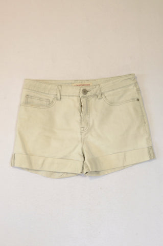Country Road Light Grey Roll Up Shorts Women Size 10