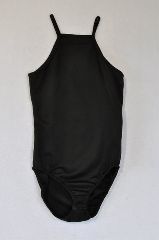 C(inch) Basic Black Strap Bodysuit Women Size 32