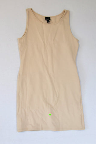 Cotton On Basic Beige Bodycon Dress Women Size 10