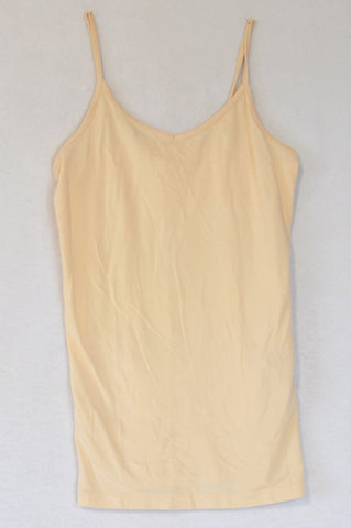 Forever 21 Basic Beige Strap Light Weight Tank Top Women Size XS