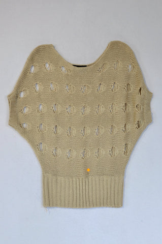 News Beige Knit Throw Over Jersey Women Size S