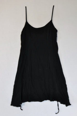 Mad Dogs Black Strappy Tie back Dress Women Size 8