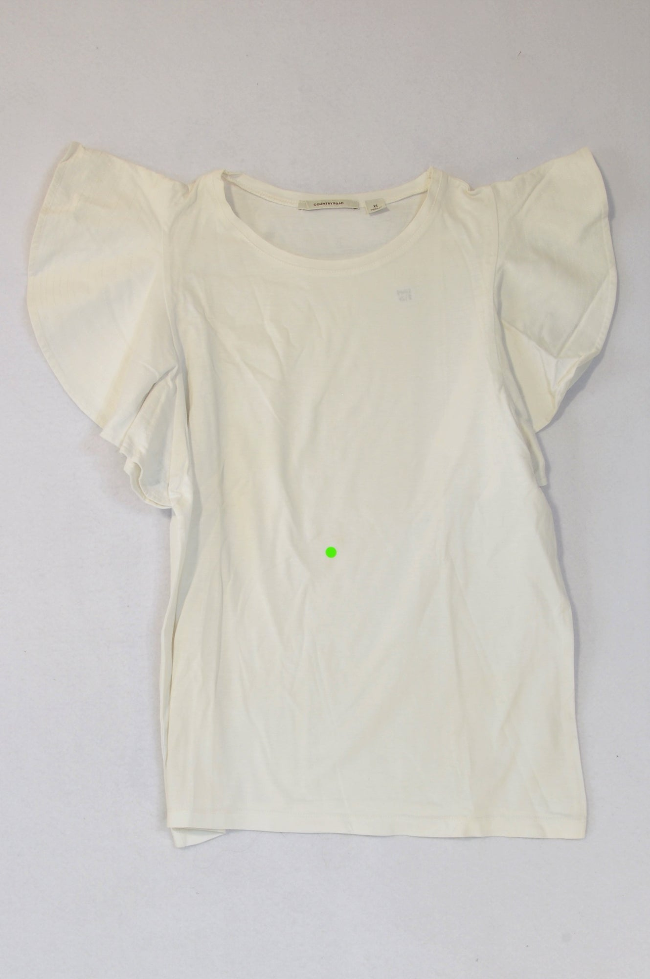 Country Road White Flared Sleeve Top Women Size 8