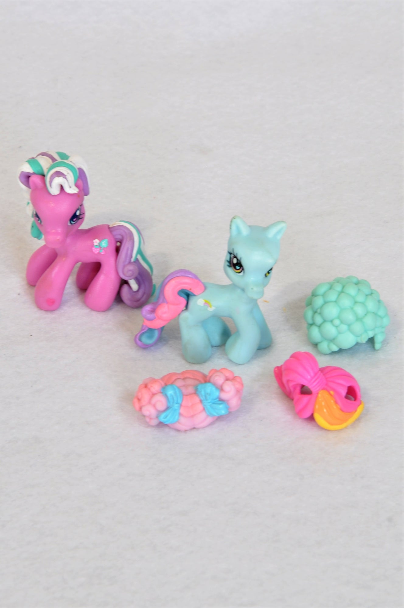 Hasbro 2 Pack Blue & Pink My Little Pony With Changeable Hair Toys Girls 3-10 years