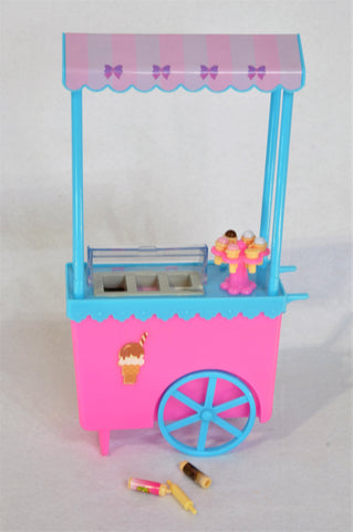 Unbranded Ice Cream Cart For Standard Size Barbie Dolls With Ice Cream Accessories Toy Girls 3-10 years