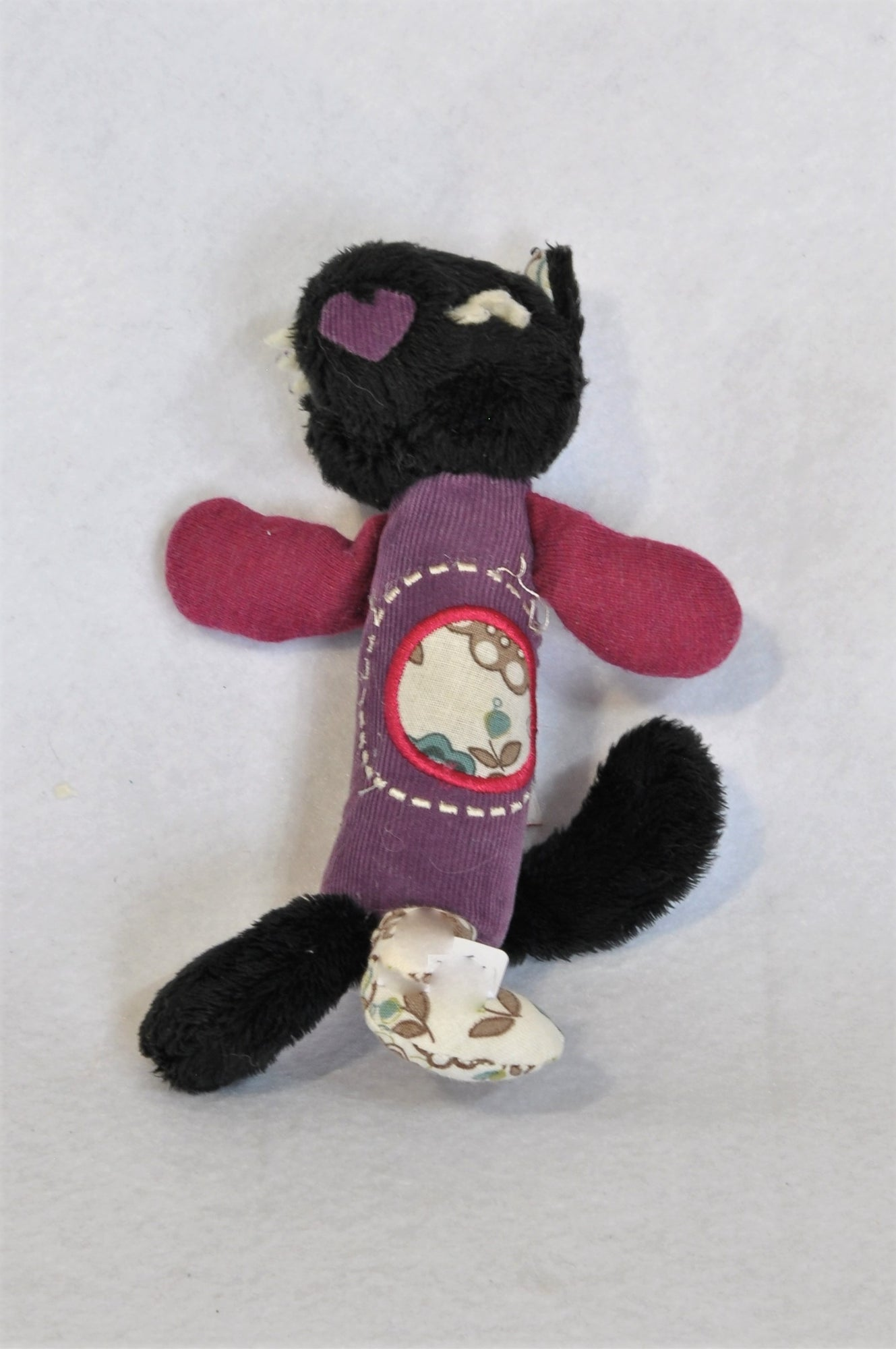 Trudi Black & Purple Patch Kitten Soft Toy Unisex N-B to 3 years