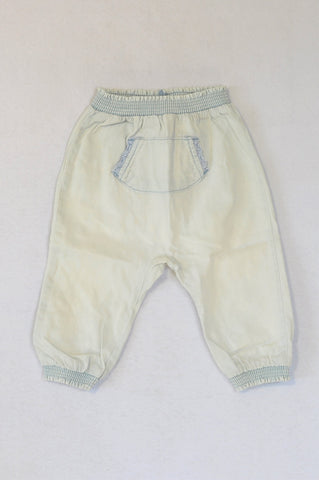 Next Light Blue Wash Pocket Cuffed Pants Girls 9-12 months