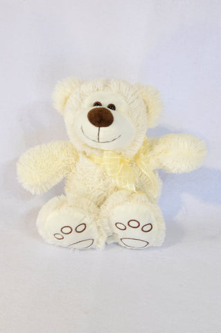 Unbranded Ivory Brown Nose Teddy Bear Soft Toy Unisex N-B to 3 years