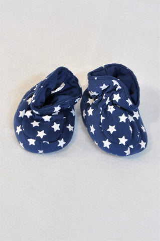 Pick 'n Pay Navy White Star Booties Unisex 0-3 months