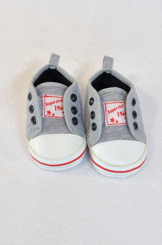 Edgars Size 0 Superstar 1961 Grey Navy Booties Boys 0-3 months
