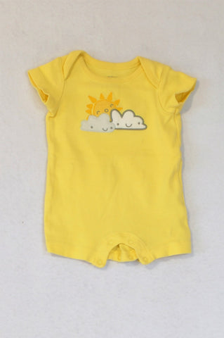 Gymboree Yellow Sun & Clouds Romper Unisex N-B