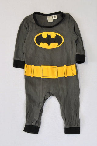 H&M DC Comics Grey Batman Onesie Boys 2-4 months
