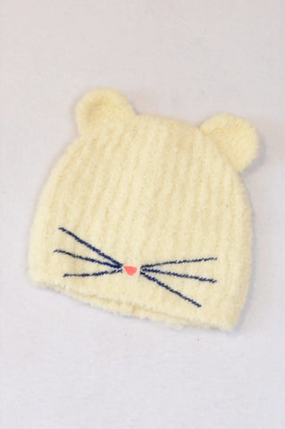 Crewcuts Ivory Knit Whiskers & Ears Beanie Girls 7-14 years