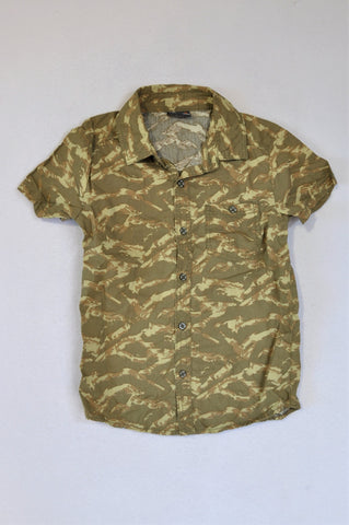 JBR Camo Button Up Shirt Unisex 9-10 years