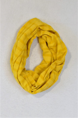 Earthchild Yellow Striped Snood Scarf Unisex 3-5 years