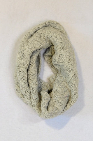 H&M Grey Knit Snood Scarf Unisex 4-6 years