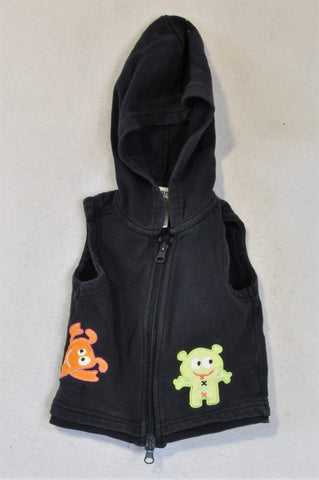 Korango Navy Little Monster Hooded Body Warmer Boys 0-3 months
