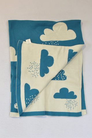 Unbranded Blue & White Cloud Blanket Unisex N-B to 3 years