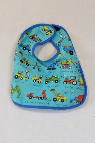 Tyrell Katz London Blue Truck Transport Bib Boys 0-6 months