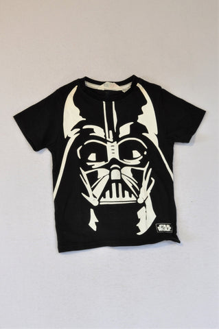 H&M Black & White Darth Vader Star Wars T-shirt Unisex 2-4 years