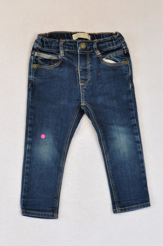 Zara Blue Elasticated Waist Jeans Boys 18-24 months
