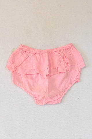 Woolworths Pink Lightweight Frill Bloomers Girls 12-18 months