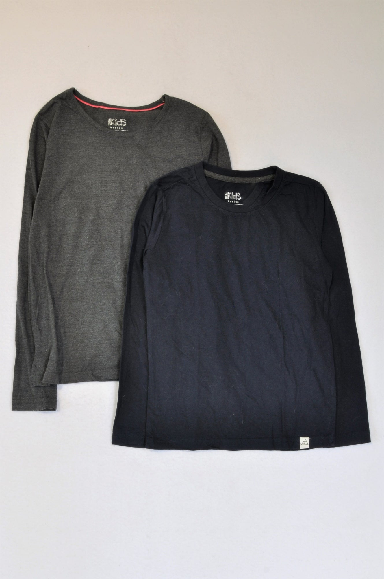 Pick 'n Pay 2 Pack Navy & Charcoal Long Sleeve T-shirts Girls 9-10 years