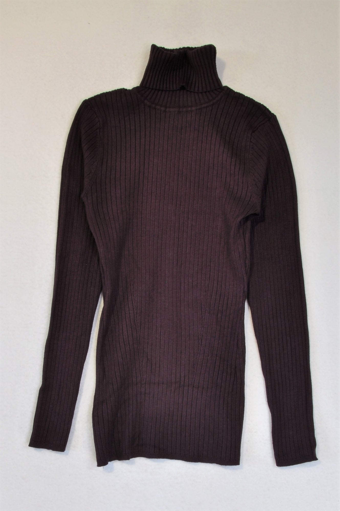 David Jones Deep Purple Turtleneck Ribbed Long Sleeve Top Women Size S