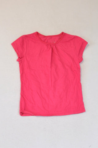 Woolworths Cerise Basic T-shirt Girls 5-6 years