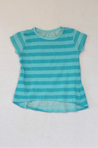 Woolworths Blue Striped T-shirt Girls 2-3 years