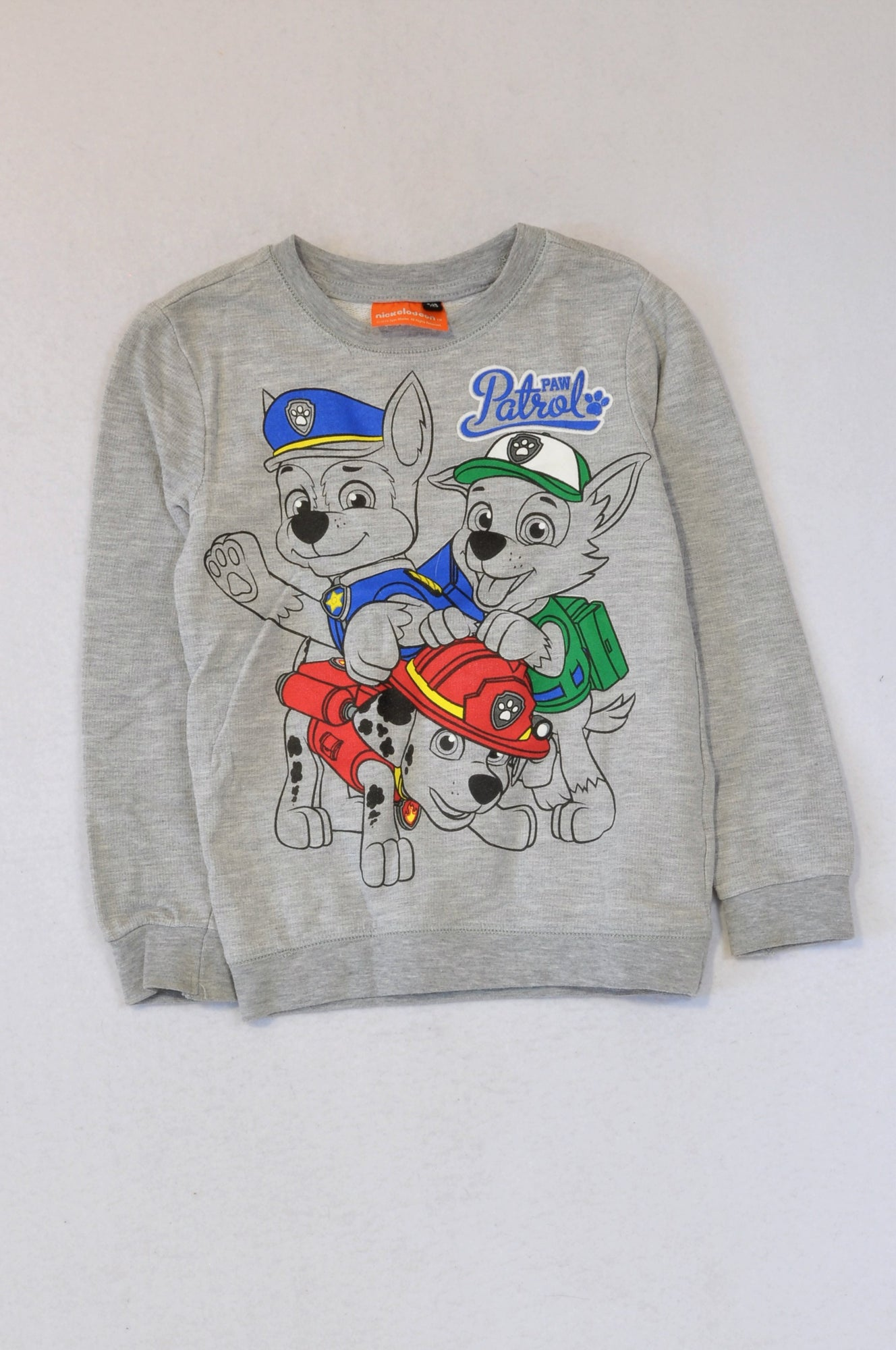 Nickelodeon Grey Long Sleeve Paw Patrol Top Boys 5-6 years