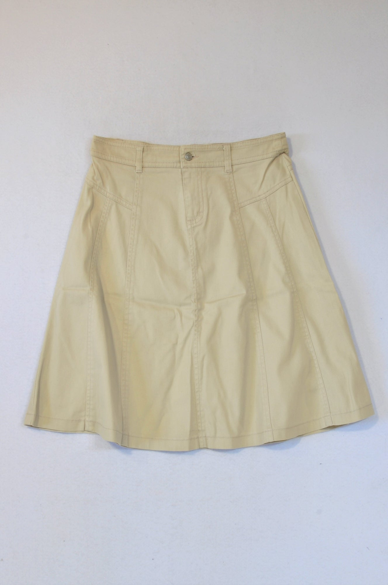 Legit Beige Flared Skirt Women Size 8