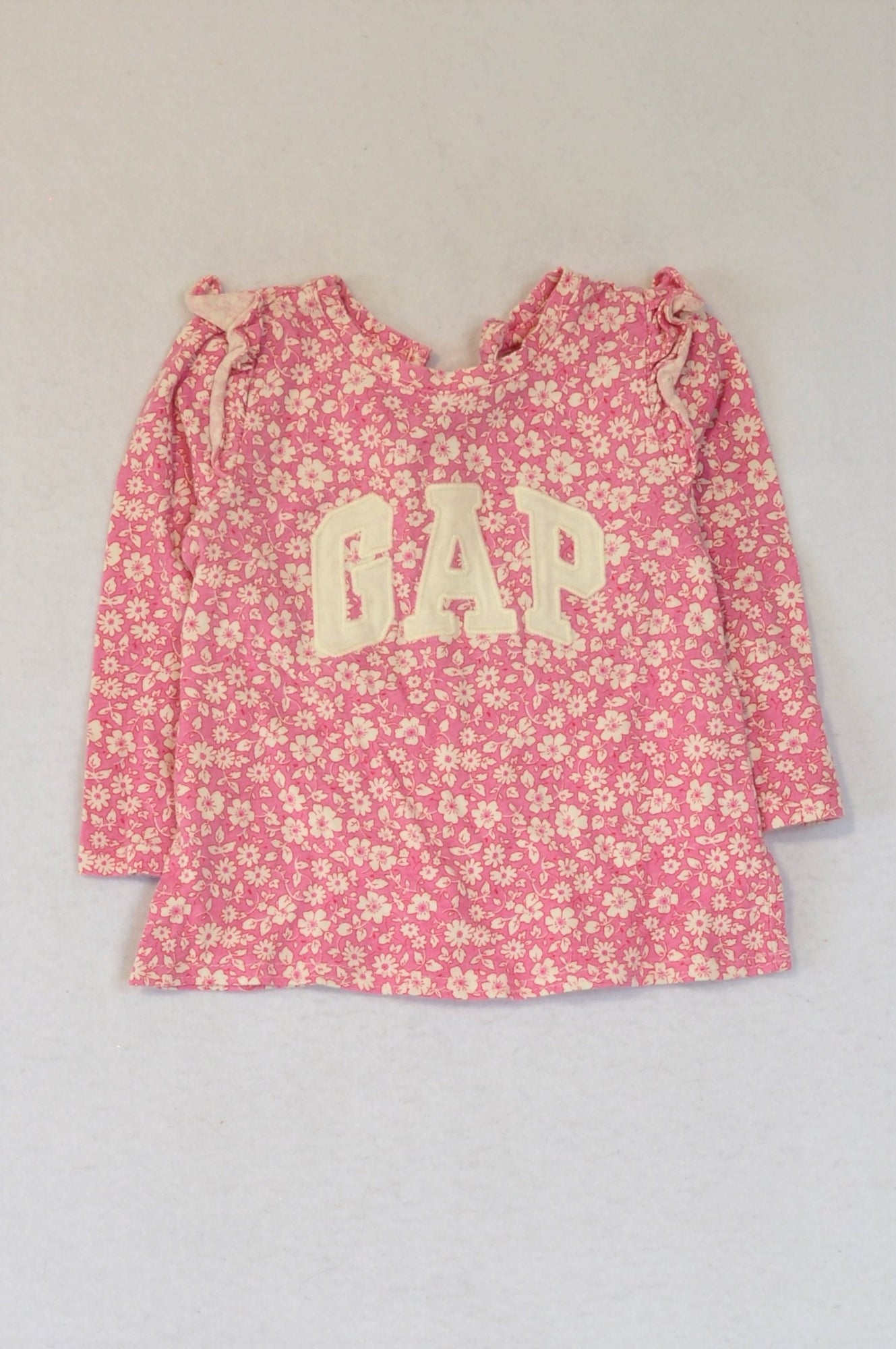 GAP Pink Floral Long Sleeve Top Girls 18-24 months