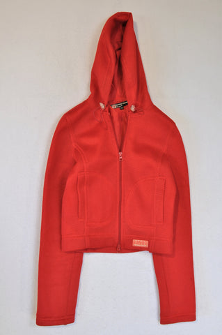 Cool Cat Wonder Woman Red Mesh Hooded Jacket Women Size XS