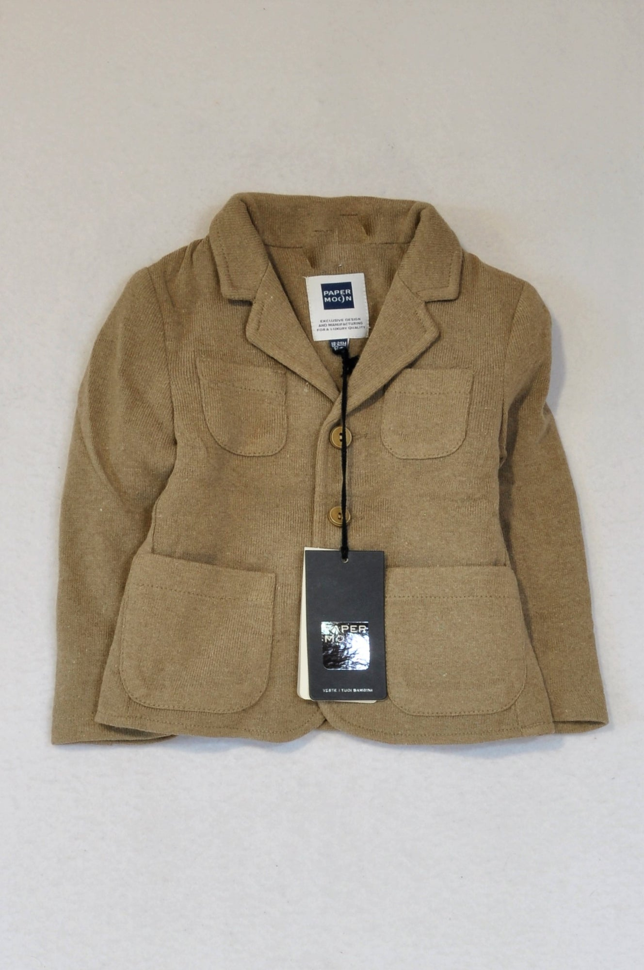 New Paper Moon Brown Knit Jacket Unisex 18-24 months