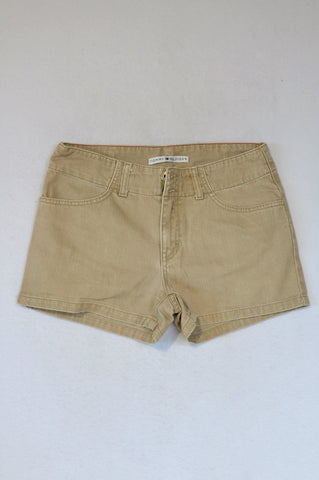 Tommy Hilfiger Beige Double Button Shorts Women Size 6