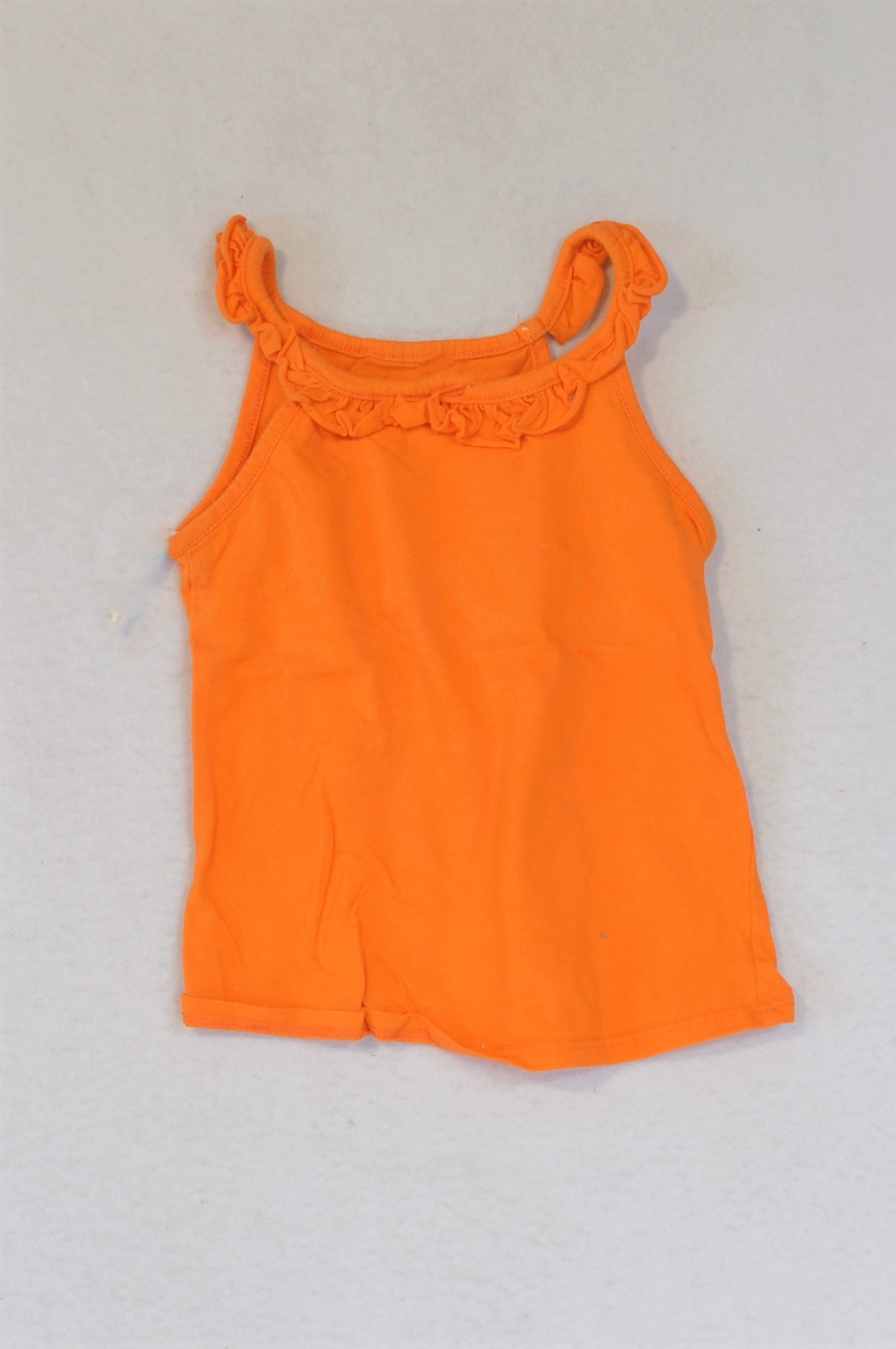 Woolworths Orange Frill Tank Top Girls 3-4 years